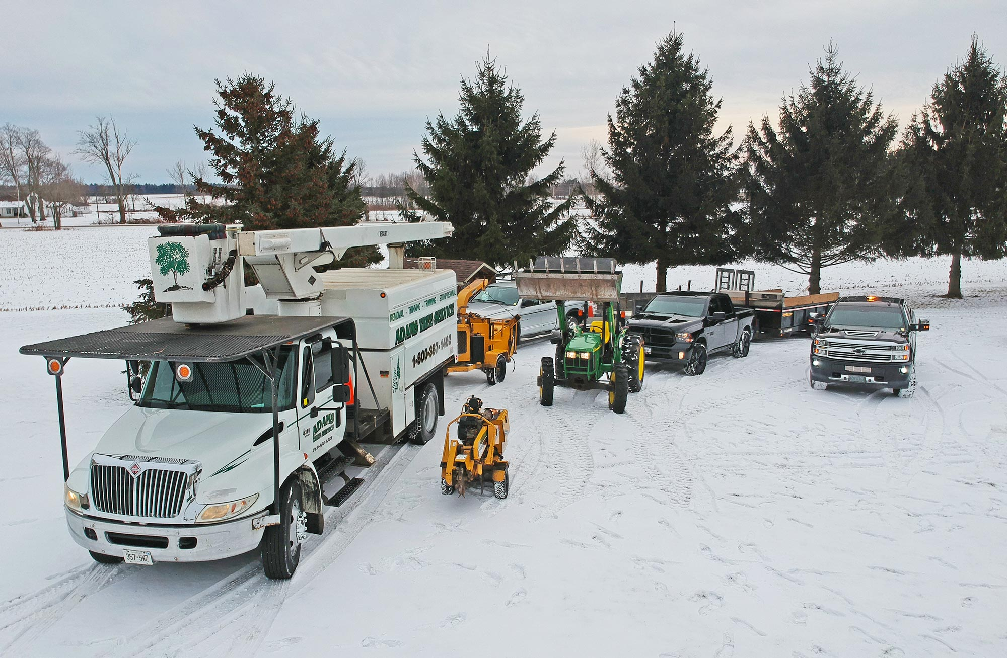 Adams Tree Service equipment