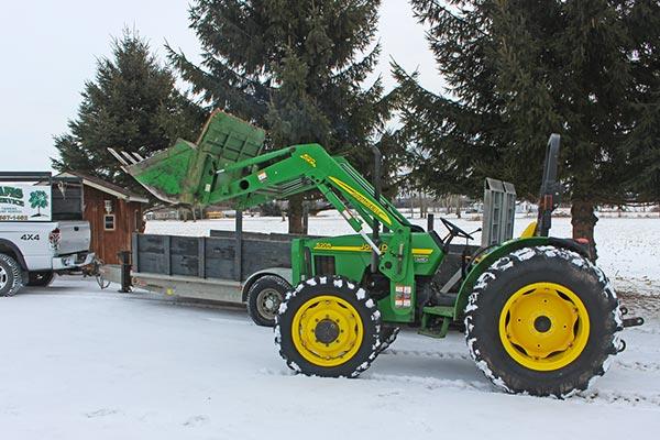 Adams Tree Service tractor