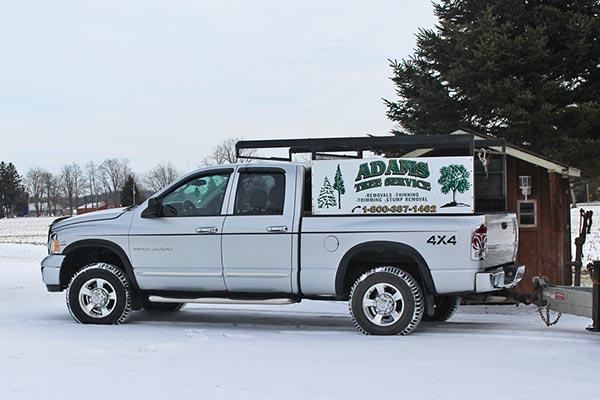 Adams Tree Service truck